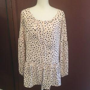 Modcloth Cute Light Blush Print Tunic Size 1X